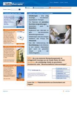 Vorschau der mobilen Webseite infratherapie.de, Infratherapie GmbH