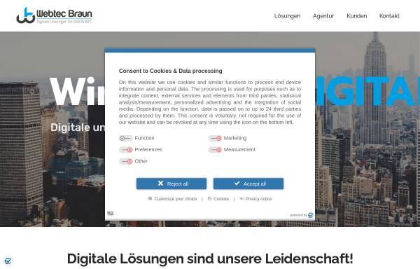 Vorschau von www.webtec-braun.com, WebTec Braun