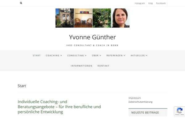 Vorschau von www.coaching-bonn.de, Yvonne Günther - Coaching & Beratung