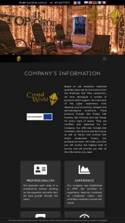 Vorschau der mobilen Webseite www.saltchamber.com, Krysztalowy Swiat