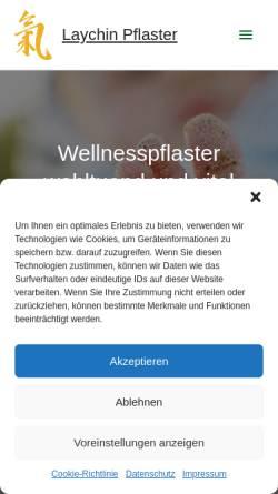 Vorschau der mobilen Webseite www.laychin-pflaster.at, Laychin-Pflaster