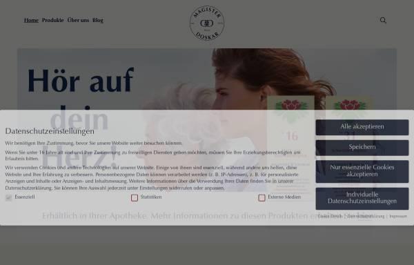 Vorschau von www.doskar.at, Magister Doskar - Pharmazeutische Produkte