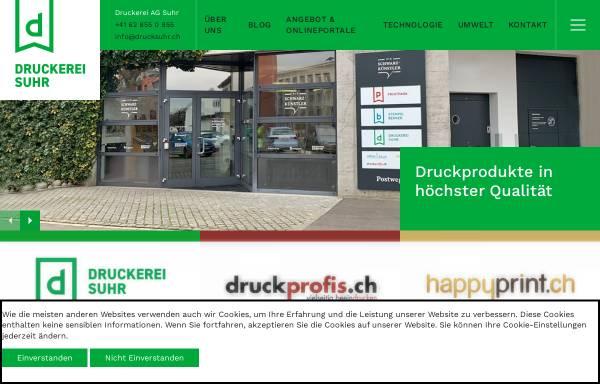 Vorschau von drucksuhr.ch, Druckerei AG Suhr