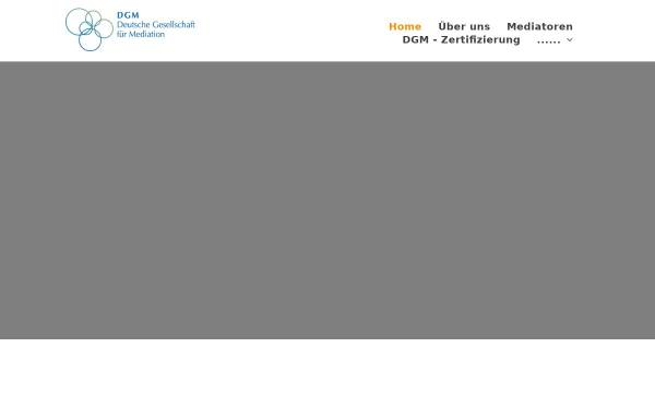 Vorschau von www.dgm-web.de, Deutsche Gesellschaft für Mediation e.V.