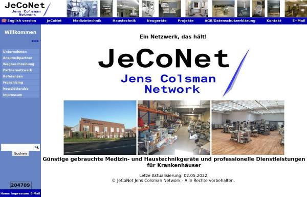 Vorschau von www.jeconet.de, JeCoNet - Jens Colsman Network