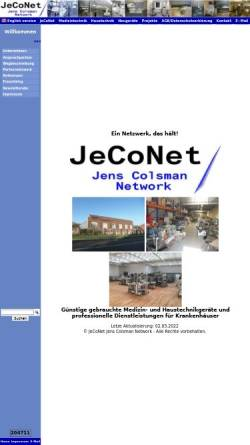 Vorschau der mobilen Webseite www.jeconet.de, JeCoNet - Jens Colsman Network