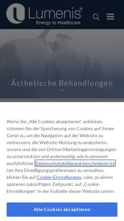 Vorschau der mobilen Webseite www.lumenis.de, Lumenis (Germany) GmbH