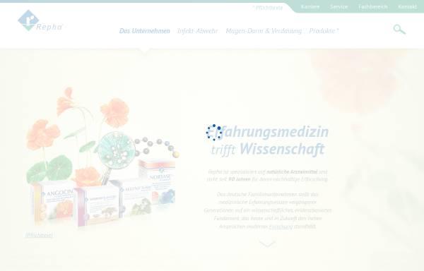 Vorschau von www.repha.de, Repha - Biologische Arzneimittel