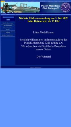 Vorschau der mobilen Webseite www.pmc-erding.de, Plastik Modellbau Club Erding e.V.