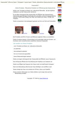 Vorschau der mobilen Webseite www.shaho.de, Shaho Hair Care