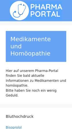 Vorschau der mobilen Webseite www.staufen-pharma.de, Staufen-Pharma