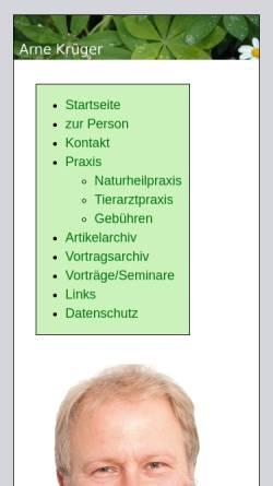 Vorschau der mobilen Webseite www.arnekrueger.de, Arne Krüger