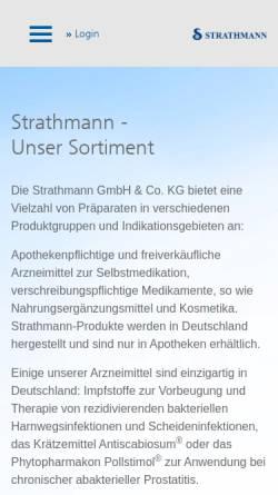 Vorschau der mobilen Webseite www.strathmann.de, Strathmann AG