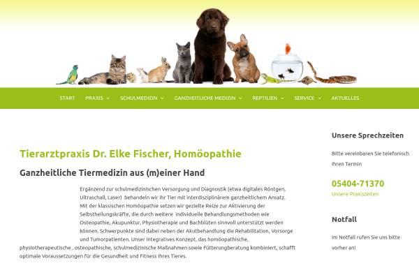 Vorschau von www.tierarzt-fischer.de, Dr. Elke Fischer