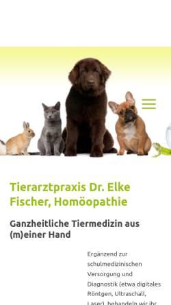 Vorschau der mobilen Webseite www.tierarzt-fischer.de, Dr. Elke Fischer