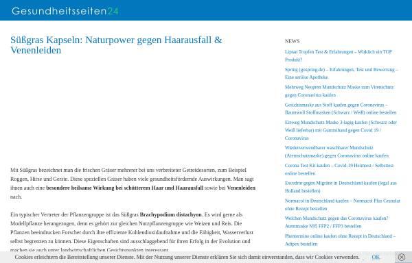 Vorschau von www.suessgras-infos.de, Süßgras Informationen