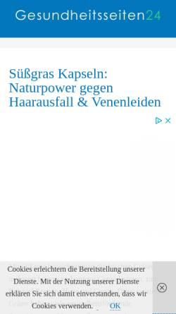 Vorschau der mobilen Webseite www.suessgras-infos.de, Süßgras Informationen