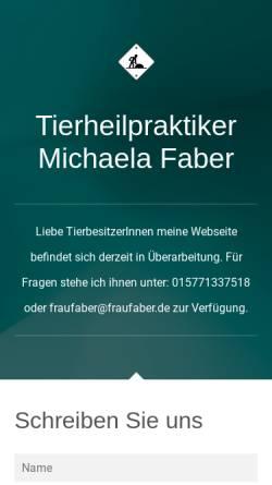 Vorschau der mobilen Webseite www.tierheilpraktiker-faber.de, Michaela Faber