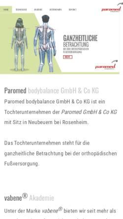 Vorschau der mobilen Webseite www.vabene-balance.de, Vabene