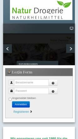 Vorschau der mobilen Webseite www.naturdrogerie.ch, Verein Natur Drogerie