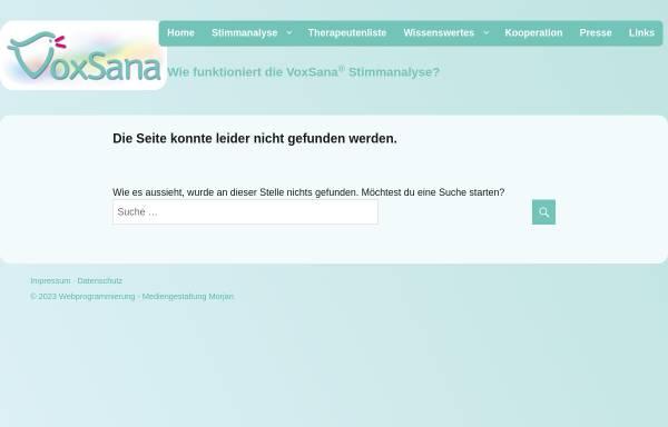 Vorschau von voxsana.de, VoxSana - Stimmanalyse zur Analyse des Stoffwechsels