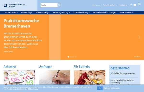 Vorschau von www.hwk-bremen.de, Handwerkskammer Bremen