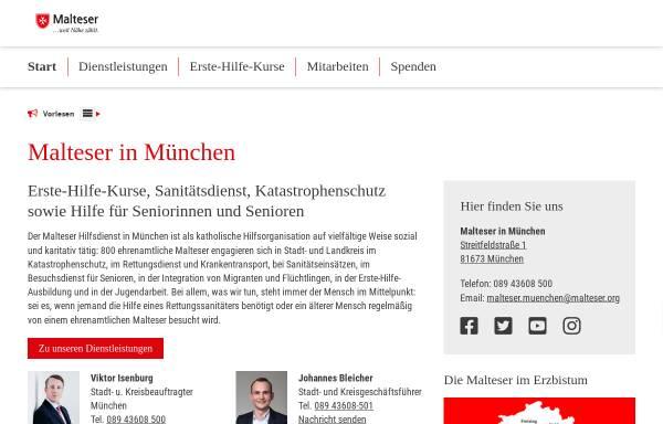 Vorschau von www.malteser-muenchen.de, Malteser Hilfsdienst e.V., Stadtgeschäftsstelle München