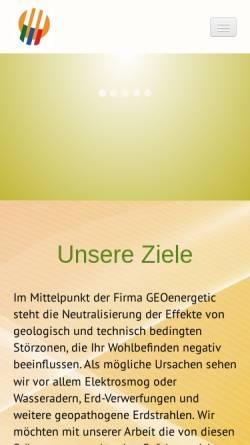 Vorschau der mobilen Webseite www.geoenergetic.de, GEOenergetic