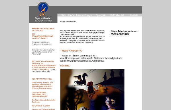 Vorschau von www.theater-blauer-mond.de, Figurentheater Blauer Mond