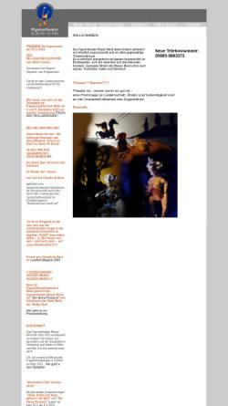 Vorschau der mobilen Webseite www.theater-blauer-mond.de, Figurentheater Blauer Mond