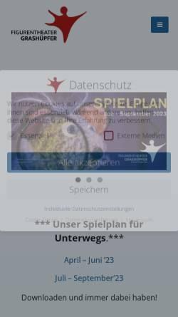 Vorschau der mobilen Webseite www.theater-grashuepfer.de, Grafhüpfer