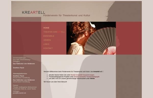Vorschau von www.kreartell.net, Das kreartell e. V.