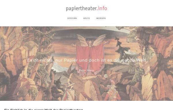 Vorschau von papiertheater.info, Papiertheater Invisius