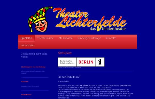 Vorschau von www.theater-lichterfelde.de, Theater Lichterfelde