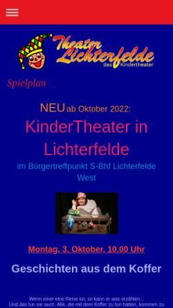 Vorschau der mobilen Webseite www.theater-lichterfelde.de, Theater Lichterfelde