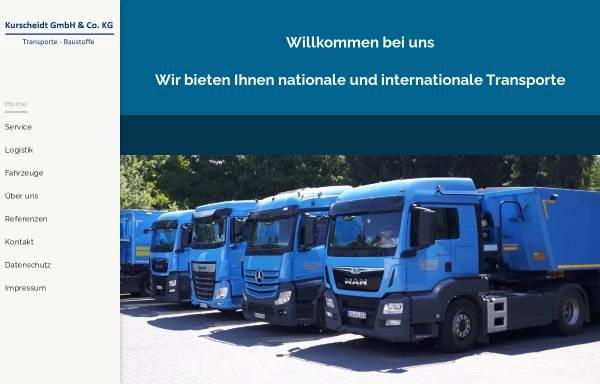 Vorschau von www.kurscheidt-rheinbach.de, Firma Kurscheidt GmbH & Co. KG Transporte-Baustoffe