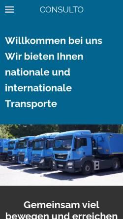 Vorschau der mobilen Webseite www.kurscheidt-rheinbach.de, Firma Kurscheidt GmbH & Co. KG Transporte-Baustoffe