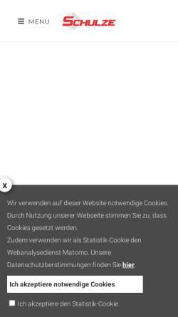 Vorschau der mobilen Webseite www.fliesenstudio-schulze.de, Fliesenstudio Schulze