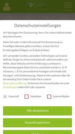 Vorschau der mobilen Webseite weinhaus-weiler.de, Hotel Restaurant Weinhaus Weiler