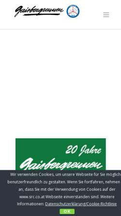 Vorschau der mobilen Webseite www.src.co.at, Salzburg Rallye Club