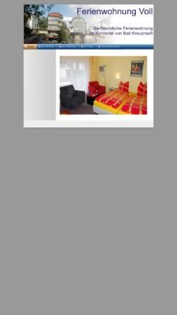 Vorschau der mobilen Webseite www.raymond-voll.de, Ferienwohnung Voll