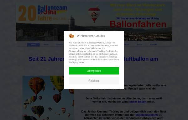 Vorschau von www.ballonteam-jena.de, Ballonteam-Jena