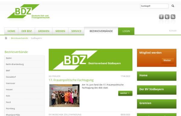 Vorschau von www.bdz-suedbayern.de, Bund der deutschen Zollbeamten [BDZ] Gewerkschaft Zoll und Finanzen, Bezirksverband Südbayern e.V.