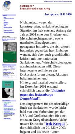 Vorschau der mobilen Webseite www.embargos.de, Initiative gegen Embargos - Sanktionen - keine Alternative zum Krieg