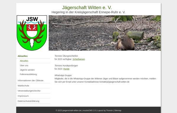 Vorschau von www.xn--jgerschaft-witten-qqb.de, Vereinsseite der Jägerschaft Witten e.V.