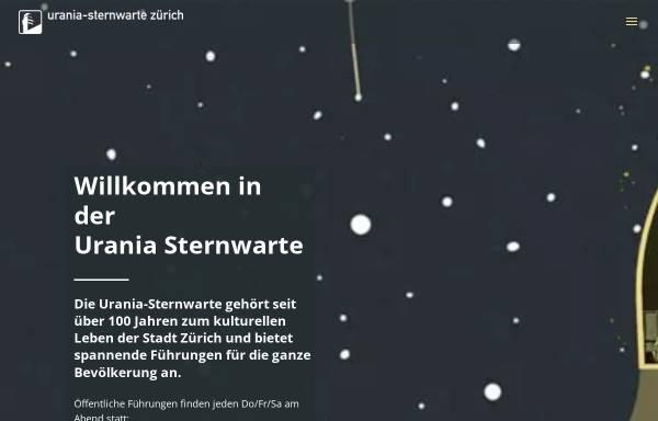 Vorschau von www.urania-sternwarte.ch, Urania-Sternwarte Zürich