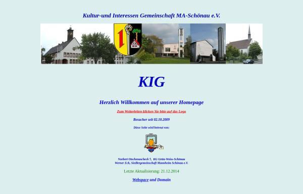 Vorschau von www.kig-schoenau.de, KIG Mannheim-Schönau e.V.