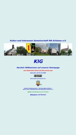 Vorschau der mobilen Webseite www.kig-schoenau.de, KIG Mannheim-Schönau e.V.