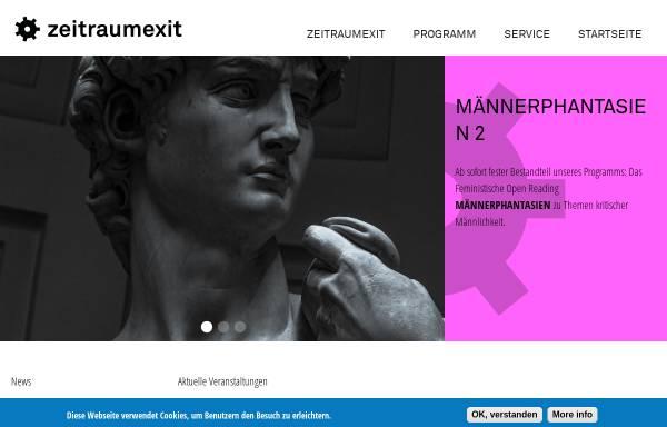 Vorschau von www.zeitraumexit.de, zeitraum_ex!t Büro für Kunst e.V