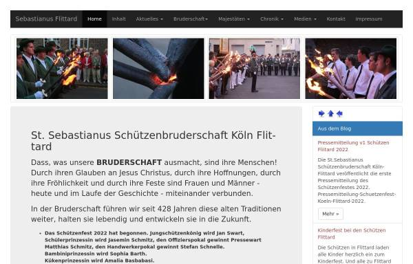 Vorschau von www.sebastianus-flittard.de, St. Sebastianus Schützenbruderschaft Köln Flittard